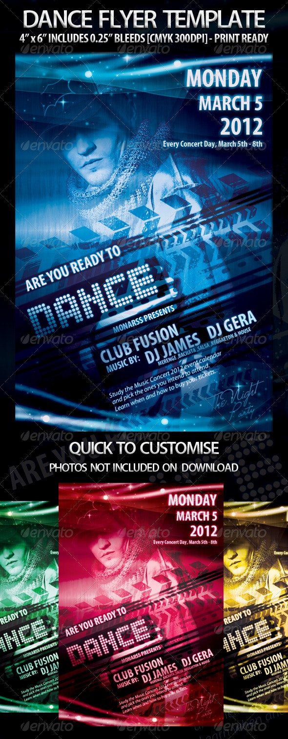 Dance Flyer Template - Clubs & Parties Events