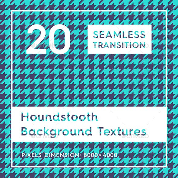 20 Houndstooth Pattern Background Textures