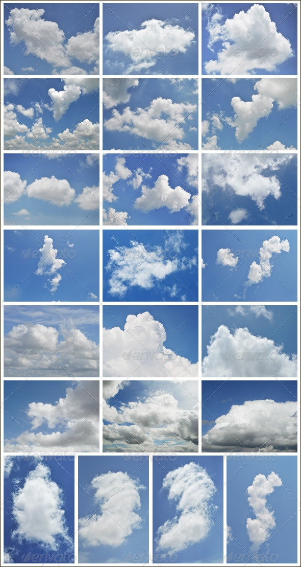 Floating Clouds in Blue sky - Nature Backgrounds