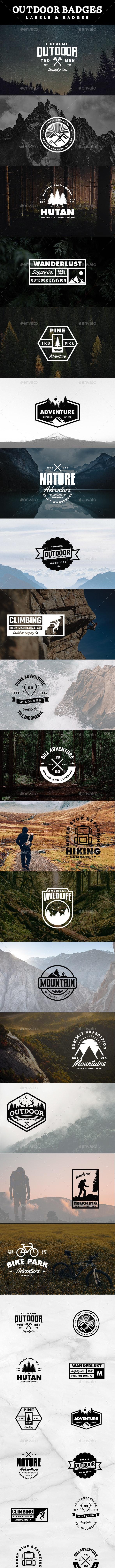 Adventure Labels and Badges Vol. 3 - Badges & Stickers Web Elements
