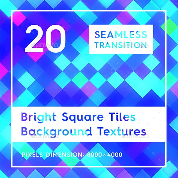 20 Bright Square Tiles Background Textures