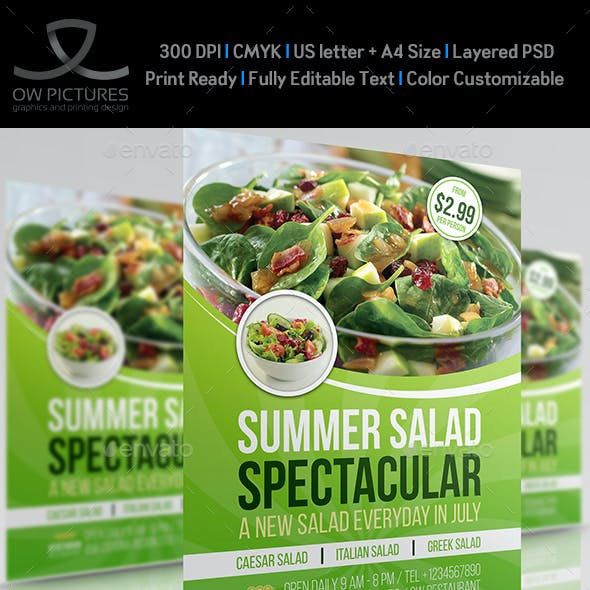 Salad Restaurant Flyer Template