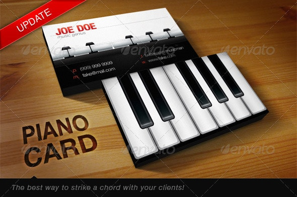 Piano Card - Industry Specific Business Cards
