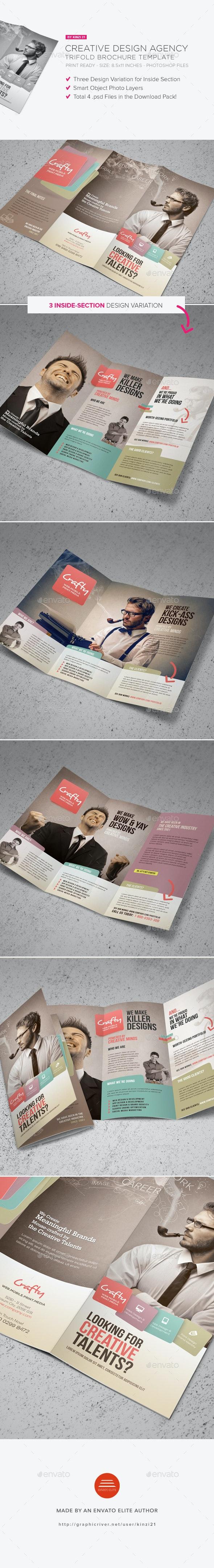 Creative Design Agency Trifold Brochure - Corporate Brochures