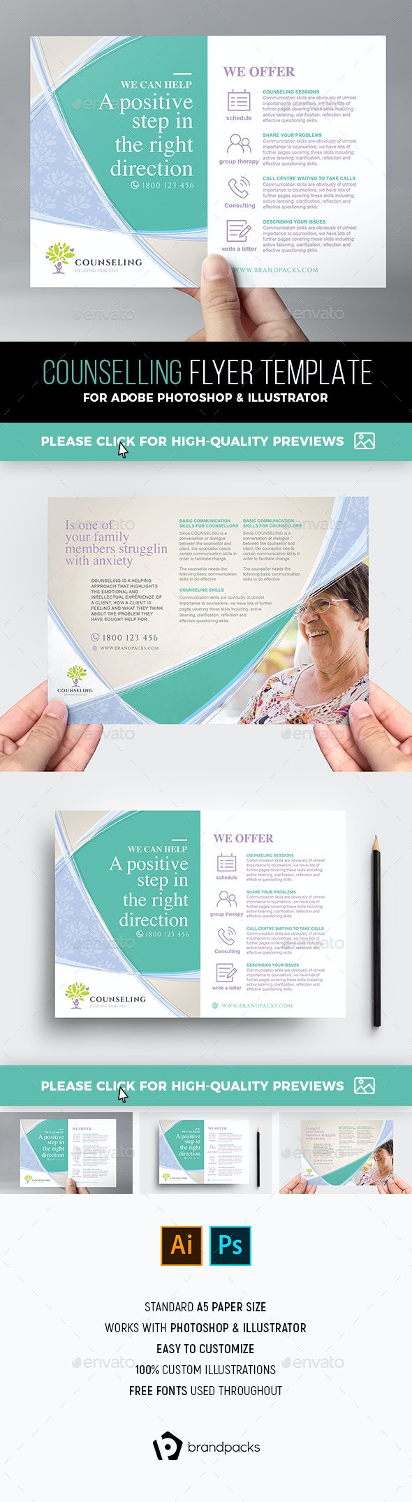 Counselling Service Flyer Template - Corporate Flyers