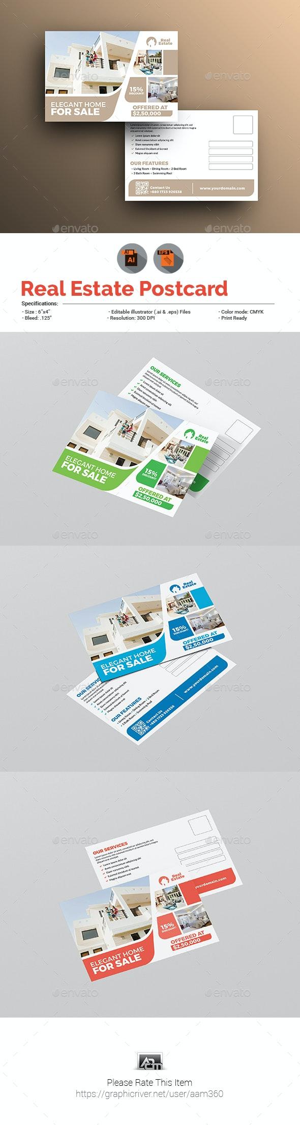 Real Estate Postcard Template - Cards & Invites Print Templates