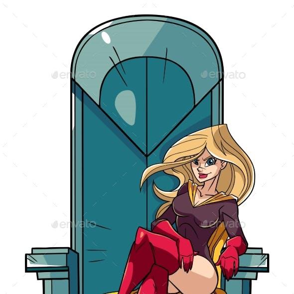Superheroine on Throne