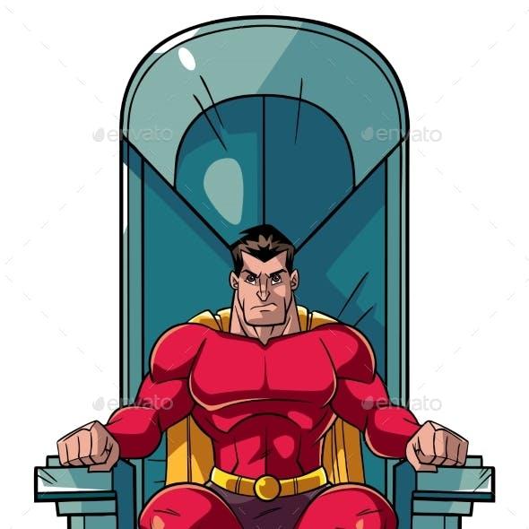 Superhero on Throne