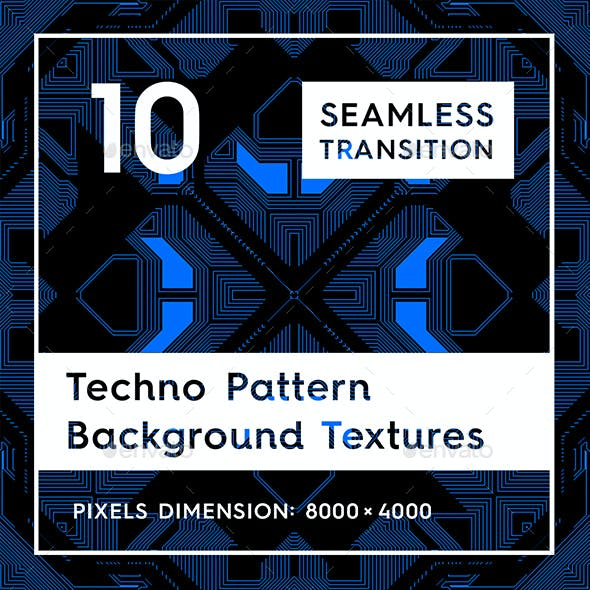 10 Techno Pattern Background Textures