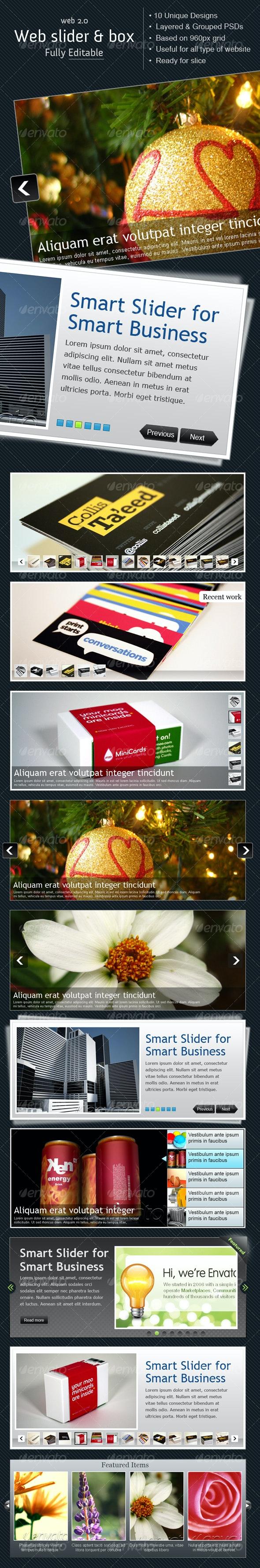 Ultimate Web Slider & Box 0 Vol.1 - Web Elements
