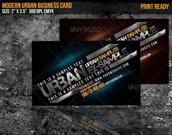 Modern Urban Business Card - Creative Business Cards
