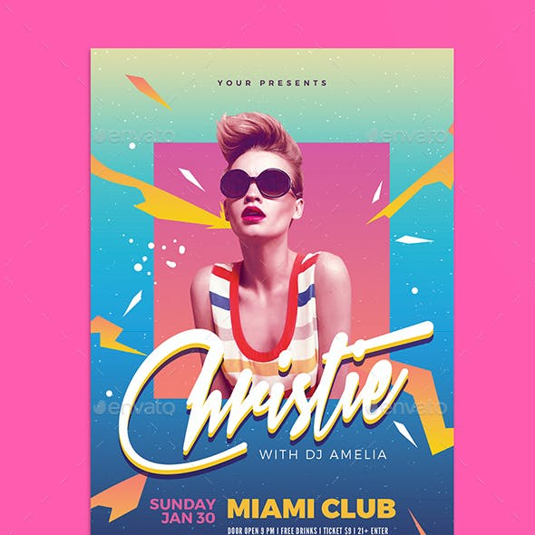 Electro DJ Party Flyer