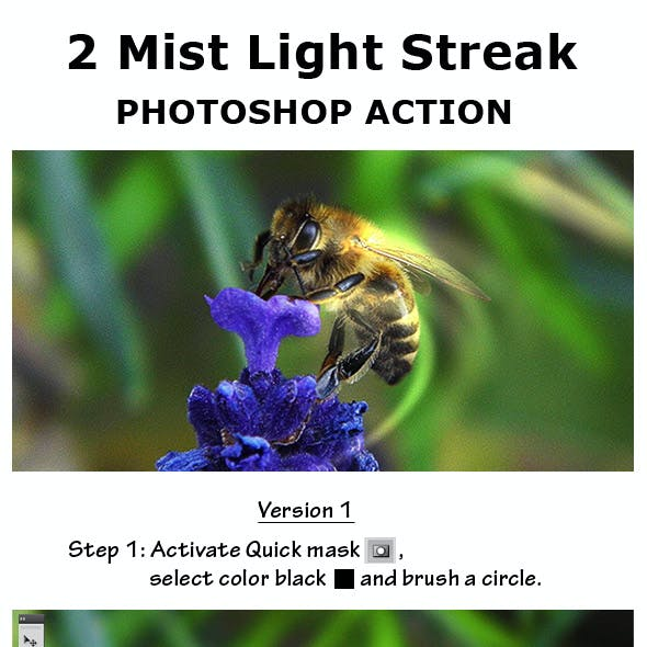 2 Mist Light Streak Photoshop Action