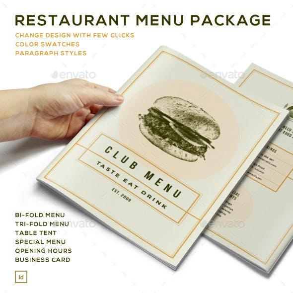 Elegant Food Menu - Restaurant Package