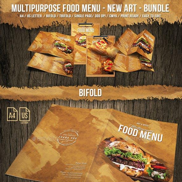 Multipurpose A4 & US Letter Menu Bundle - New Art