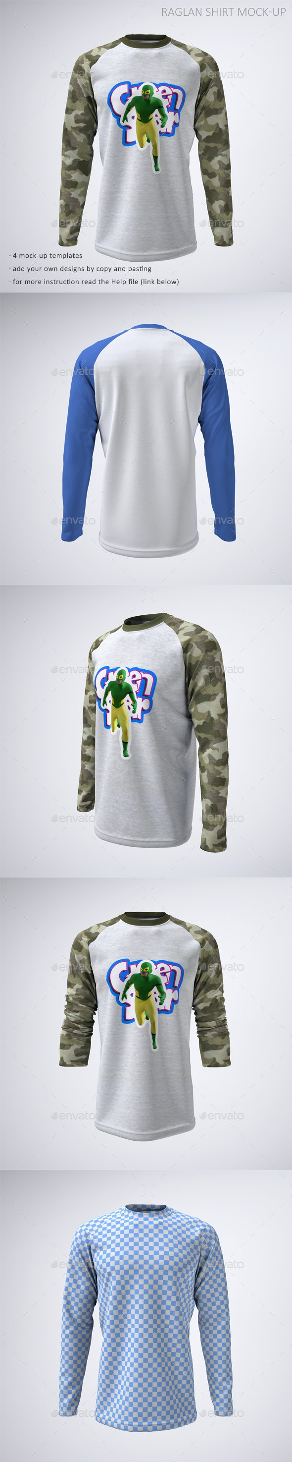 Long Sleeve Raglan or Baseball T-Shirt Mock-Up - T-shirts Apparel