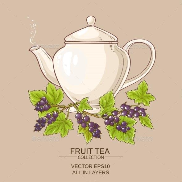 Black Currant Tea in  Teapot