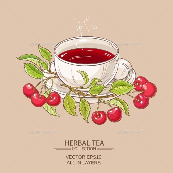 Cherry Tea Illustration