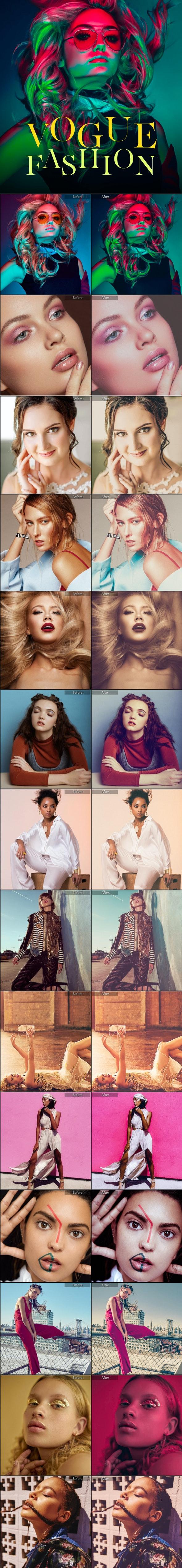 21 Premium Vogue Fashion Lightroom Presets - Portrait Lightroom Presets