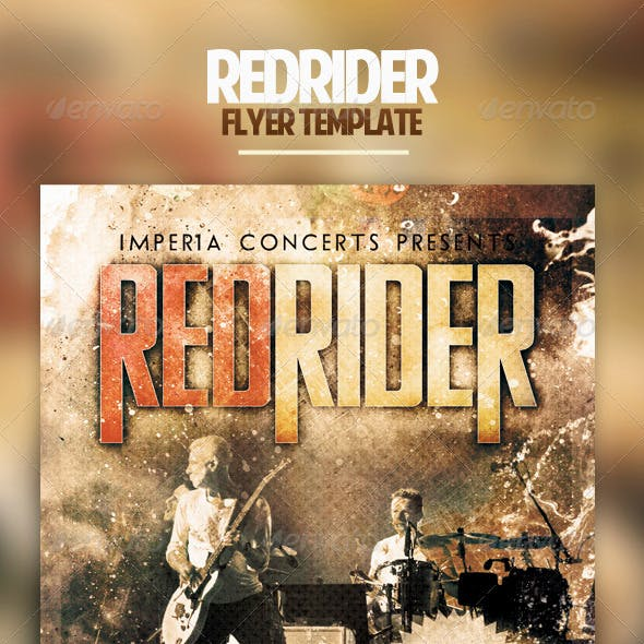 Redrider Flyer Template