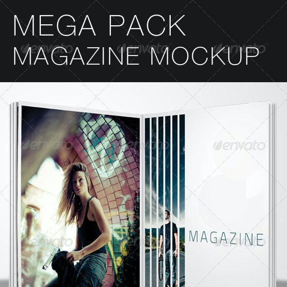 Mega Pack Magazine Mock-Up