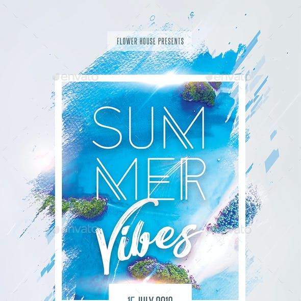 Summer Vibes Creative Party Flyer
