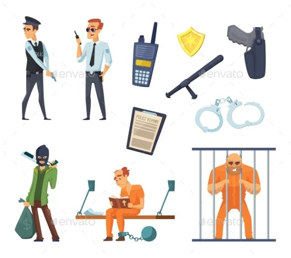 Criminal Characters and Policemen