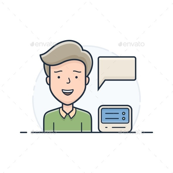 Server Hosting Support - People Characters