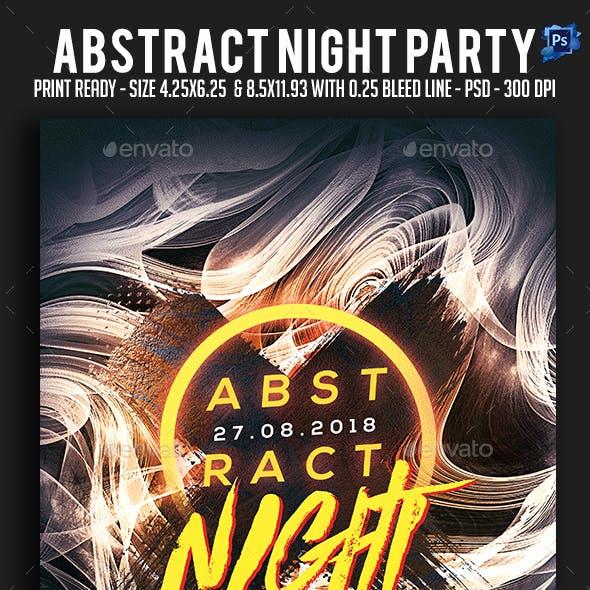 Abstract Night Party Flyer
