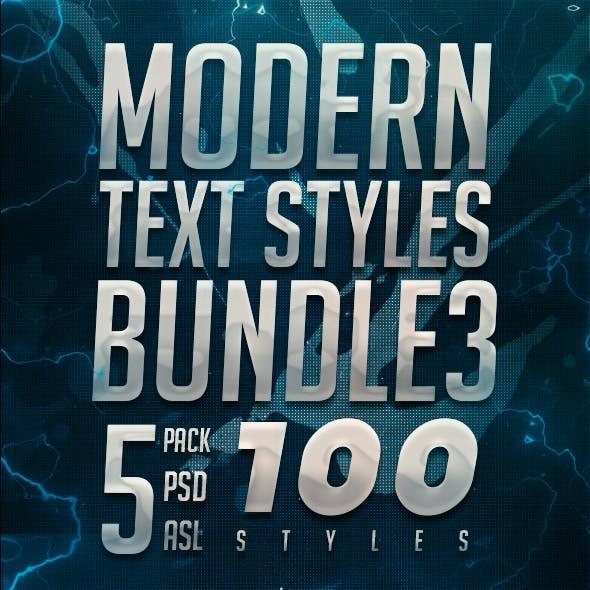Modern Text Styles Bundle 3