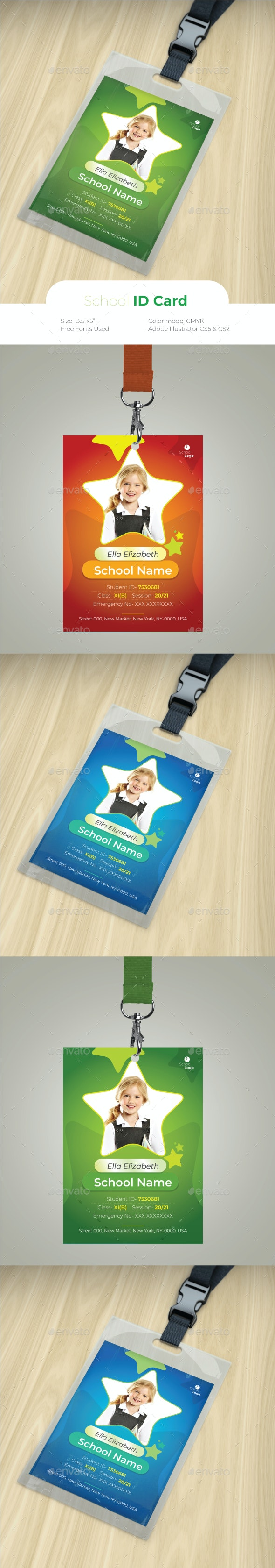 School ID Card by design_station | GraphicRiver