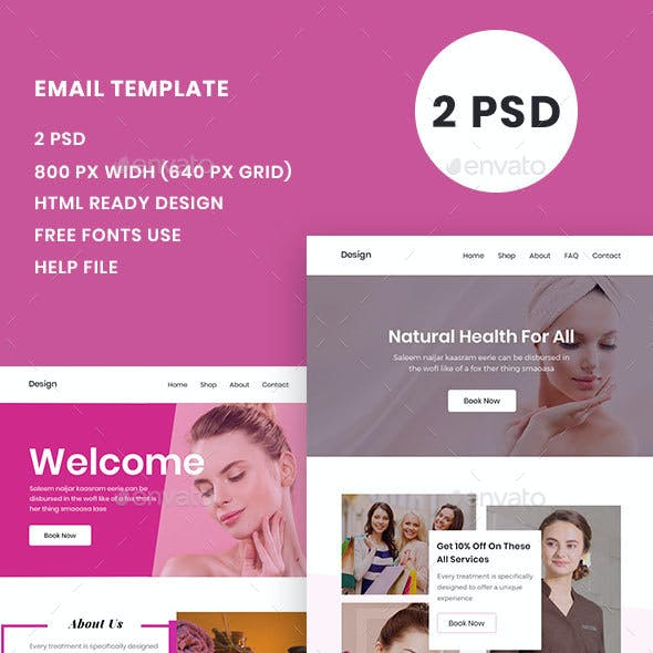 Spa Email Template