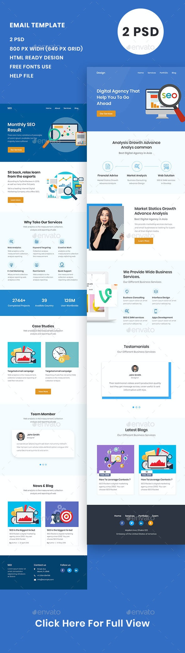 SEO Email Template - E-newsletters Web Elements