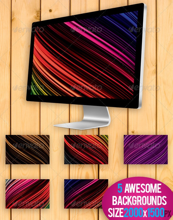 Bright Colors Backgrounds Pack - Backgrounds Graphics