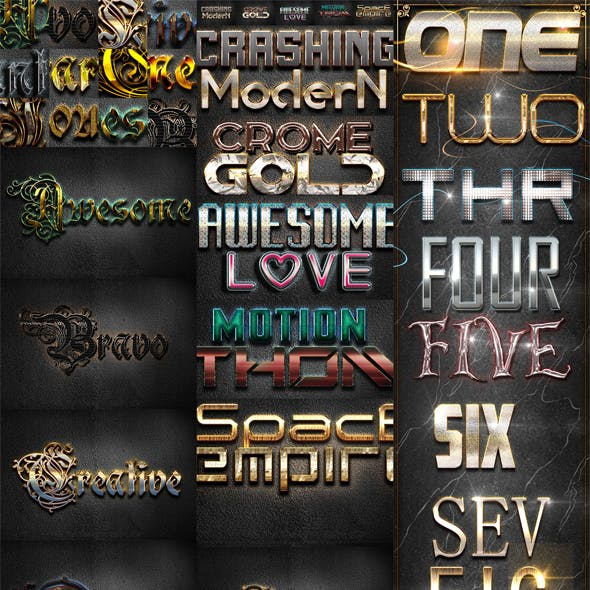 30 Bundle Text Styles W19-21