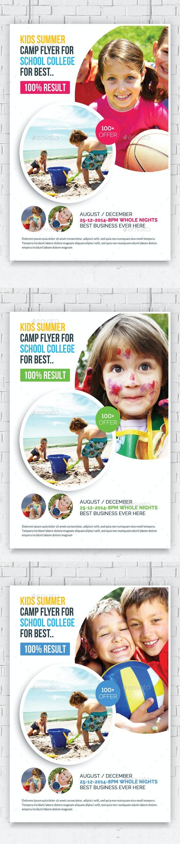 Kids Summer Camp Flyers - Flyers Print Templates