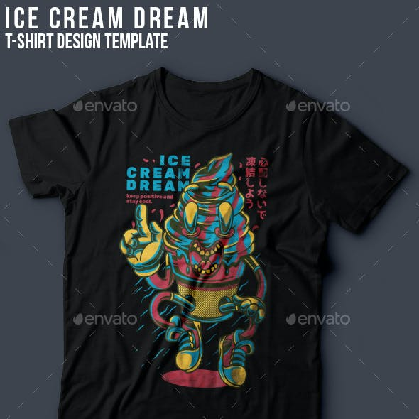 Ice Cream Dream T-Shirt Design
