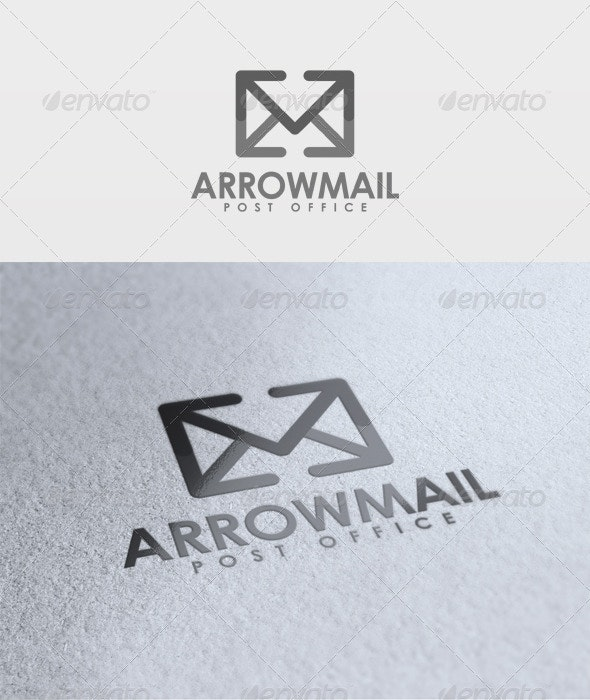 Arrow Mail Logo - Objects Logo Templates