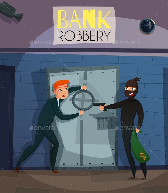 Bank Robbery Illustration