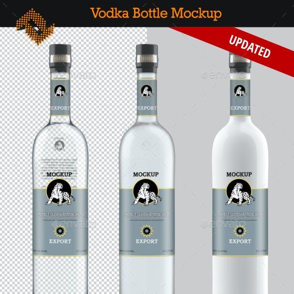 Vodka Bottle Mockup Vol. 4