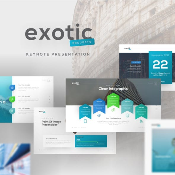 Exotic Project Keynote Presentation Template