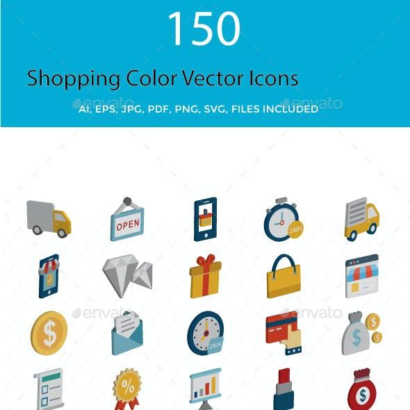 150 Shopping Vector Icons