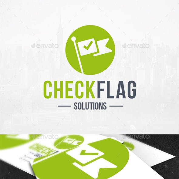 Check Flag Logo Template