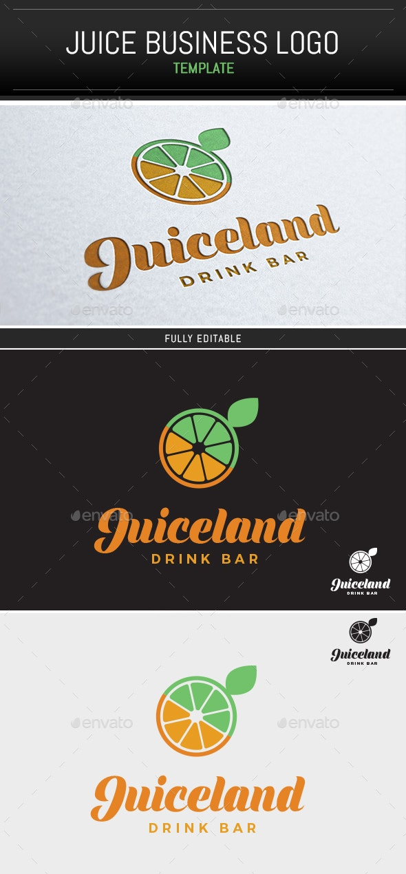 Juiceland Logo Template - Food Logo Templates