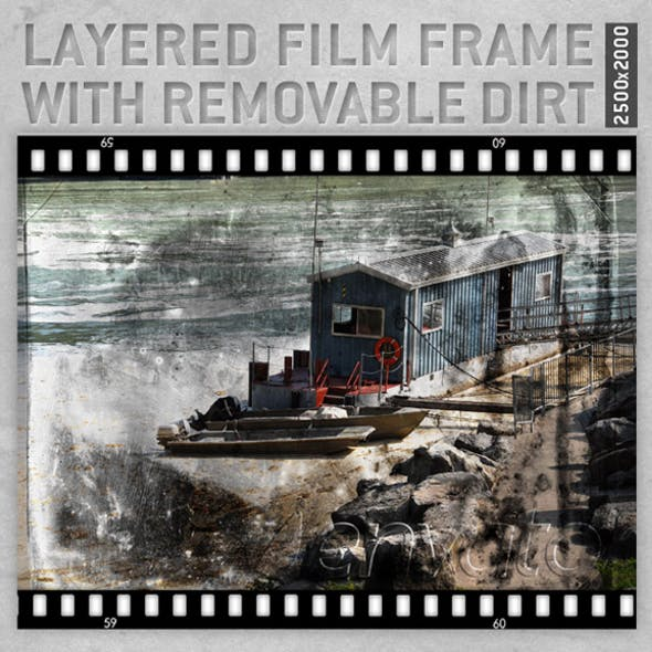 Layered Film Frame with removable dirt