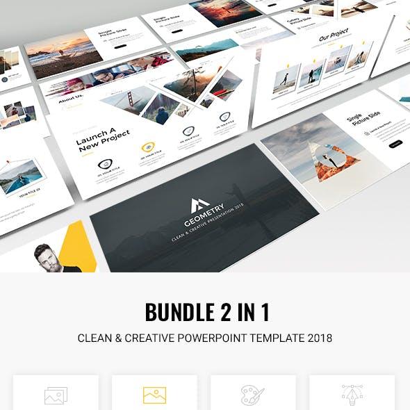 Bundle 2 in 1 Clean & Creative Powerpoint Template 2018