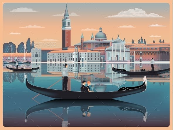 Early Morning in Venice Italy