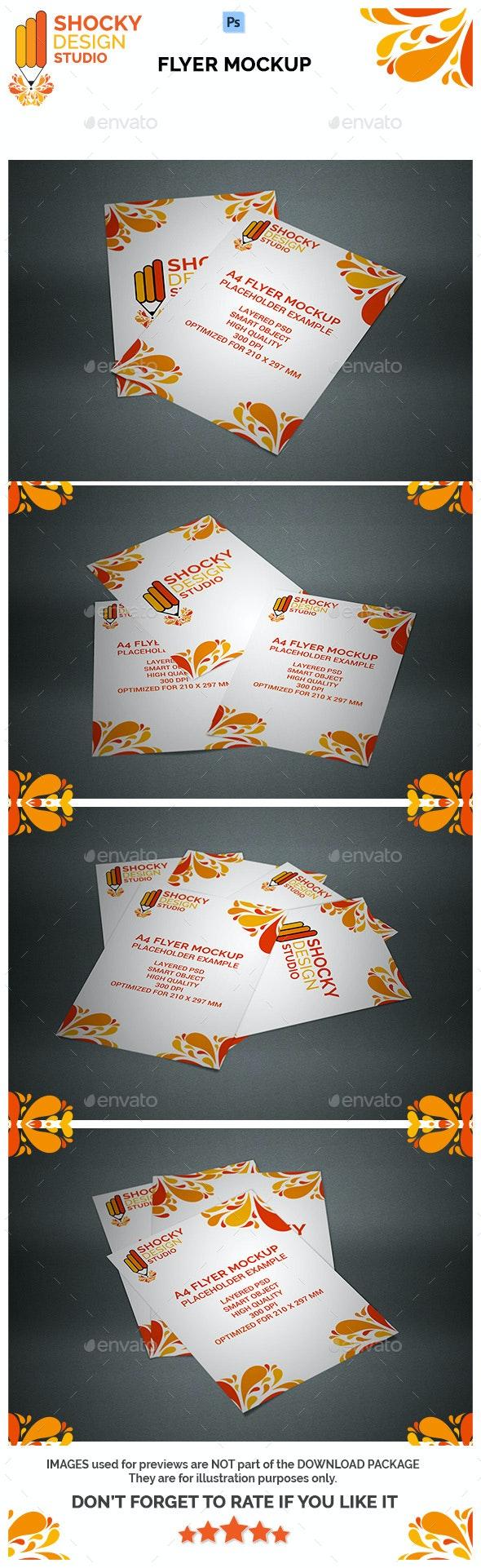 A4 Flyer Mockup - Flyers Print