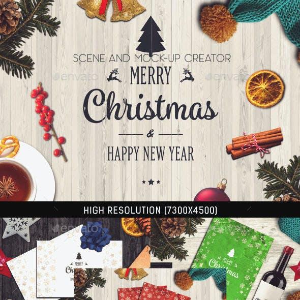Christmas Scene and Mock-up Creator