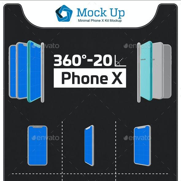 Minimal Phone X Kit Mockup